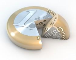 Euro Kse Torte Laib im Anschnitt
